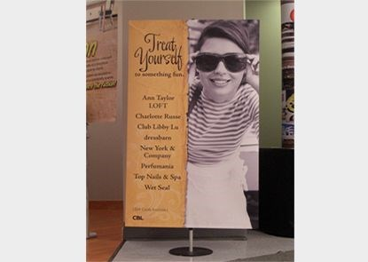 PS002 - Custom Floor Stands - Pedestal Sign for Retail