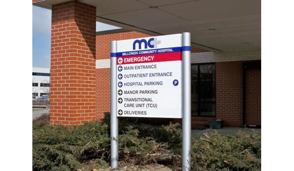 DIR038 - Custom Wayfinding Directory Sign for Healthcare