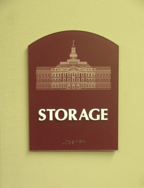 ADA and Wayfinding storage room sign