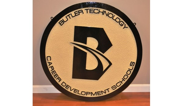Take your sign to the top of the class!  (Routed dimensional sign by Signs Now Cincinnati for Butler Technology and Career Development Schools, Hamilton, OH).
