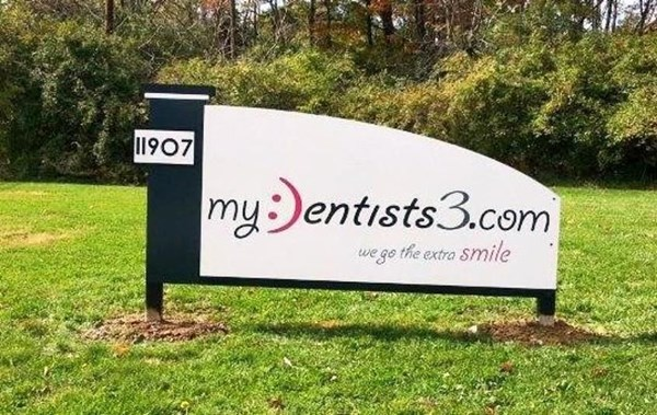 We can help with a monument sign that makes you smile!  (Monument Sign by Signs Now Cincinnati for My Dentists 3, Cincinnati, OH)