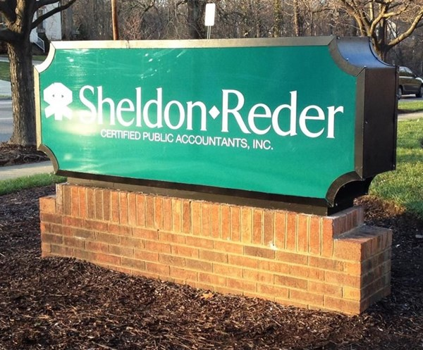 Have an old sign that you want to look brand new?  We can help!  (Lighted monument sign by Signs Now Cincinnati for Sheldon Reder CPAs, Inc., Cincinnati, OH)
