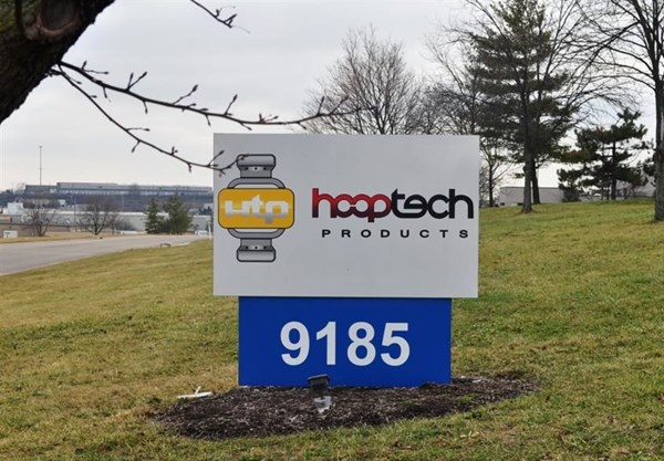 Helping clients find their way to your front door!  (Digitally printed monument sign by Signs Now Cincinnati for Hoop Tech Products, Fairfield, OH)