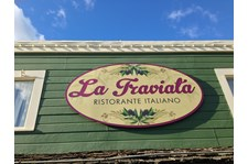 - Rigid Signage - Business Sign - La Traviata - La Conner, Wa