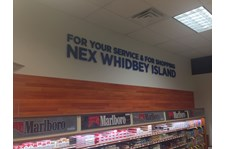 - Architectural Signage - Dimensional Lettering & Custom Wallpaper - Navy Exchange Whidbey Island - Oak Harbor, WA