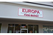 Cost affective sign, yet visable for Europa Food Market in Midlothian, VA